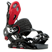 Flow Fuse-GT Hybrid Snowboard Bindings 2017, Black-Red, medium