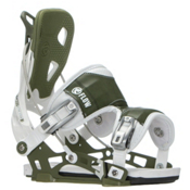 Flow NX2 Snowboard Bindings 2017, White-Green, medium