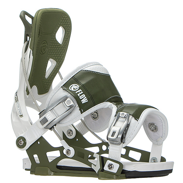 Flow NX2 Snowboard Bindings, White-Green, 600