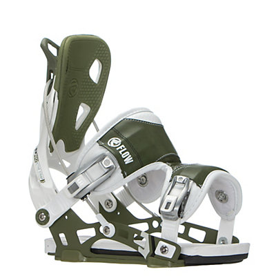 Flow NX2 Snowboard Bindings, White-Green, viewer