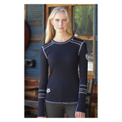 Alp-n-Rock Slopeside Long Sleeve Crew Womens Shirt, Black, medium