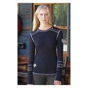 Alp-n-Rock Slopeside Long Sleeve Crew Womens Shirt, Black, medium