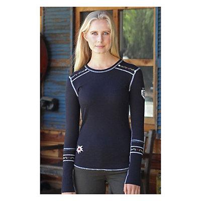 Alp-n-Rock Slopeside Long Sleeve Crew Womens Shirt, Black, viewer