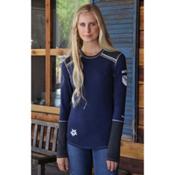 Alp-n-Rock Vintage Snowflake II Womens Shirt, Dress Blues, medium