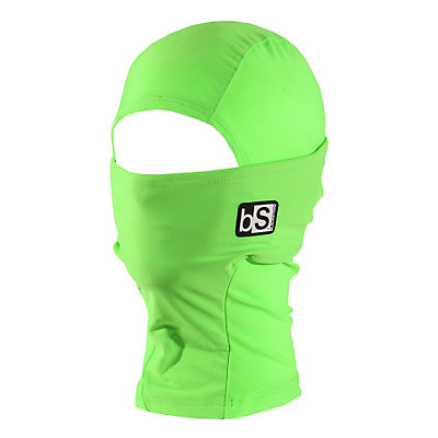 BlackStrap Hood Kids Balaclava, Bright Green, viewer