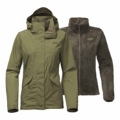 The North Face Boundary Triclimate Womens Insulated Ski Jacket, Burnt Olive Green, medium