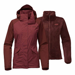 The North Face Boundary Triclimate Womens Insulated Ski Jacket, Barolo Red-Sequoia Red, 256