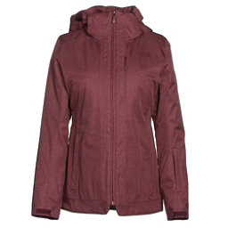 The North Face ThermoBall Snow Triclimate Parka Womens Insulated Ski Jacket, Deep Garnet Red Heather, 256