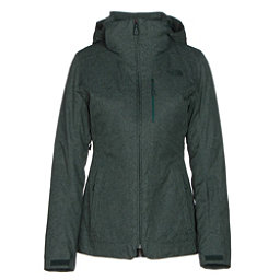 The North Face ThermoBall Snow Triclimate Parka Womens Insulated Ski Jacket, Darkest Spruce Heather, 256