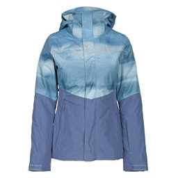 The North Face Garner Triclimate Womens Insulated Ski Jacket, Coastal Fjord Blue Snowscape P, 256