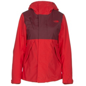 The North Face Connector Womens Insulated Ski Jacket, High Risk Red-Deep Garnet Red, medium