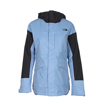 The North Face Crosstown Womens Insulated Ski Jacket, Grapemist Blue-TNF Black, viewer