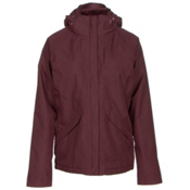 The North Face Inlux Womens Insulated Ski Jacket, Deep Garnet Red Heather, medium