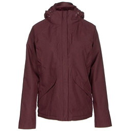 The North Face Inlux Womens Insulated Ski Jacket, Deep Garnet Red Heather, 256