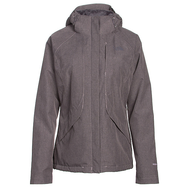 The North Face Inlux Womens Insulated Ski Jacket, Quail Grey Heather, 600