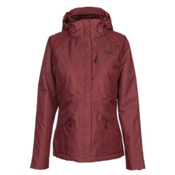 The North Face Inlux Womens Insulated Ski Jacket, Barolo Red Heather, medium