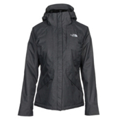 The North Face Inlux Womens Insulated Ski Jacket, TNF Black Heather, medium