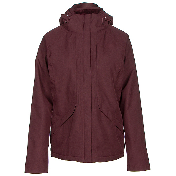 The North Face Inlux Womens Insulated Ski Jacket, Deep Garnet Red Heather, 600