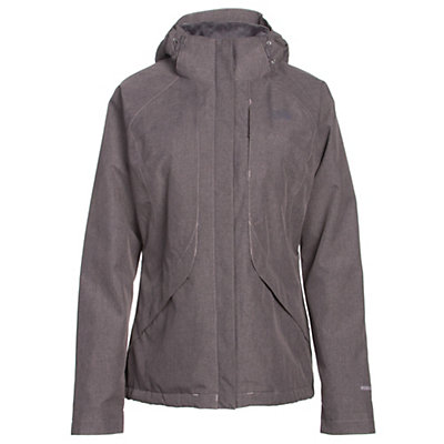 The North Face Inlux Womens Insulated Ski Jacket, Quail Grey Heather, viewer