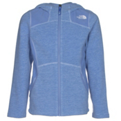 The North Face Viva Fleece Hoodie Girls Jacket, Grapemist Blue Heather, medium
