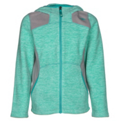 The North Face Viva Fleece Hoodie Girls Jacket, Ice Green Heather, medium