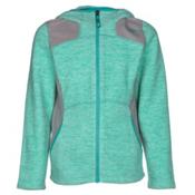The North Face Viva Fleece Hoodie Girls Jacket, Ice Green Heather, medium