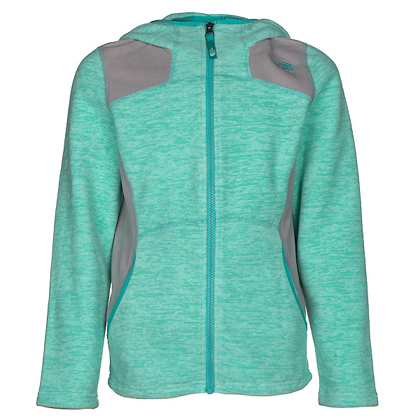 The North Face Viva Fleece Hoodie Girls Jacket, Ice Green Heather, 600