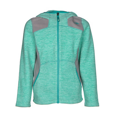 The North Face Viva Fleece Hoodie Girls Jacket, Ice Green Heather, viewer