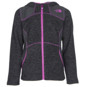 The North Face Viva Fleece Hoodie Girls Jacket, TNF Black Heather, medium