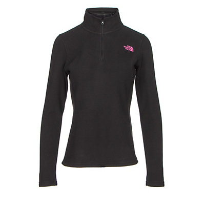 The North Face Glacier 1/4 Zip Womens Mid Layer, TNF Black-Meadow Pink, viewer