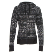 The North Face French Terry Lace Print Full-Zip Womens Hoodie, TNF Black, medium