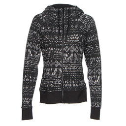 The North Face French Terry Lace Print Full-Zip Womens Hoodie, TNF Black, 256