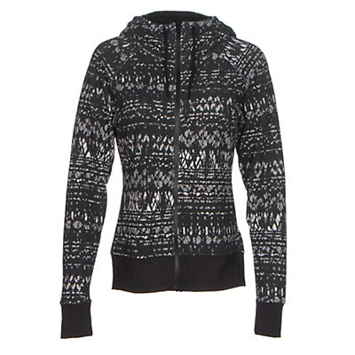 The North Face French Terry Lace Print Full-Zip Womens Hoodie, TNF Black, viewer