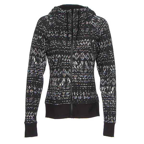 The North Face French Terry Lace Print Full-Zip Womens Hoodie, TNF Black, 600