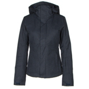 The North Face Powdance Womens Insulated Ski Jacket, Urban Navy Light Heather, medium