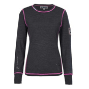Meister Peace Womens Sweater, Charcoal Gray-Rose, medium