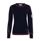 Meister Peace Womens Sweater, Deep Navy-Cayenne, medium