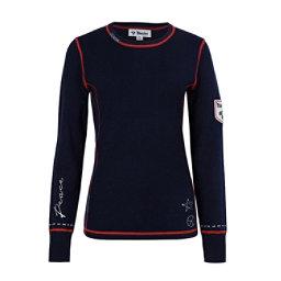 Meister Peace Womens Sweater, Deep Navy-Cayenne, 256
