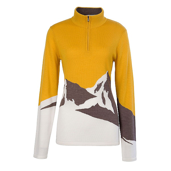 Meister Annabelle Womens Sweater, Yellow-Winter White, 600
