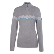 Meister Violet Womens Sweater, Pearl Gray Heather-Winter Whit, medium