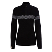 Meister Violet Womens Sweater, Black-Pearl-Silver, medium