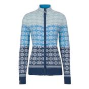 Meister Rose Zip Womens Sweater, Denim-Winter White-Robin-Glaci, medium