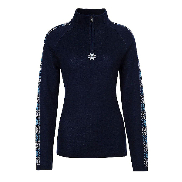 Meister Abby Womens Sweater, Deep Navy-Winter White-Robin, 600