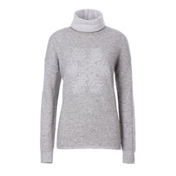 Meister Sofia Womens Sweater, Pearl Gray Heather-Winter Whit, 256
