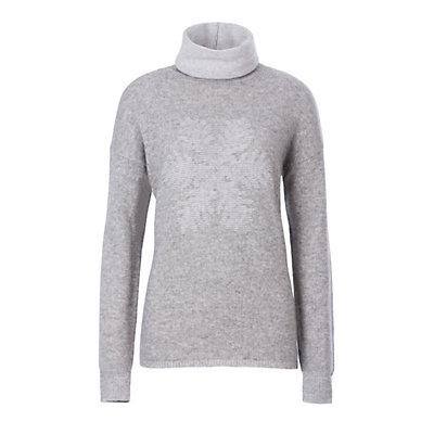 Meister Sofia Womens Sweater, Pearl Gray Heather-Winter Whit, viewer