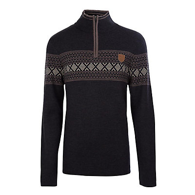 Meister Pablo Mens Sweater, Charcoal Heather-Twig Heather-, viewer