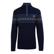 Meister Pablo Mens Sweater, Deep Navy-Denim-Pearl Gray Hea, medium