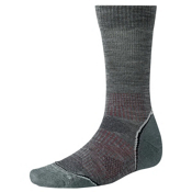SmartWool PhD Outdoor Light Crew Mens Socks, Medium Gray, medium