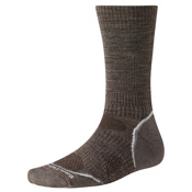 SmartWool PhD Outdoor Light Crew Mens Socks, Taupe, medium