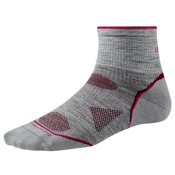 SmartWool PhD Outdoor UL Mini Womens Socks, Light Gray, medium